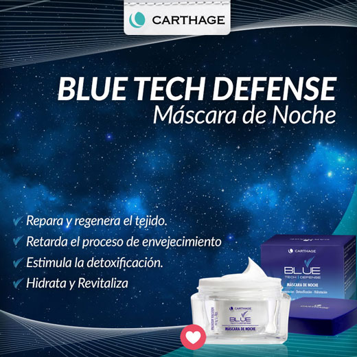 Blue Tech Defense Máscara de Noche
