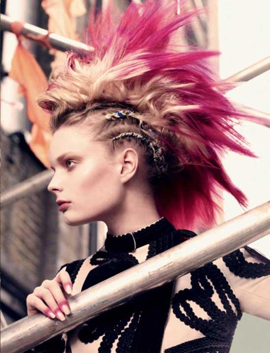 Peinado Mohicano Mohawk Cosmetologas Com Belleza Y Estetica