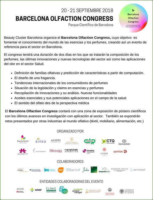 Barcelona Olfaction Congress 2018