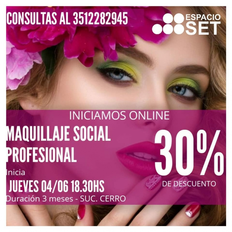 Curso online > Maquilllaje social profesional