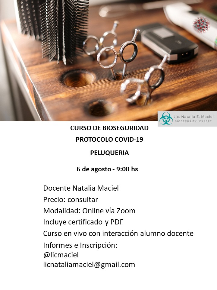 Online Curso De Bioseguridad Protocolo Covid 19 En Peluqueria