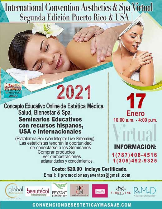 International Convention Aesthetics & Spa Virtual Puerto Rico & USA